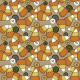 Seamless Folk Art Candy Corn Stock Image