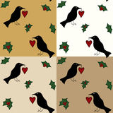 Seamless Folk Art Gift Wraps Stock Photos