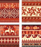 Seamless folk ornament texture. Seamless folk ornament elements texture Stock Image
