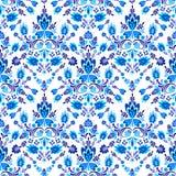Seamless  folk pattern with flowers Stock Photo