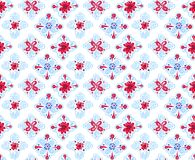 Seamless folk pattern with square elements stock illustration