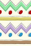 Seamless folk tribal rustic pattern Stock Images