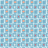 Seamless food pattern background Stock Photos