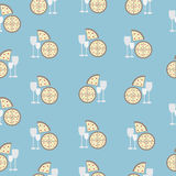 Seamless food pattern Stock Images