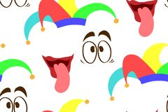 Seamless Fool`s Day pattern royalty free illustration