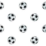 Seamless football background. Seamless cartoon football pattern or background Royalty Free Stock Image