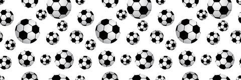 Seamless football balls. Stock Photos