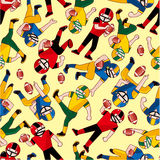 Seamless football pattern Royalty Free Stock Photo