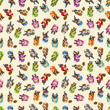 Seamless football pattern Stock Image