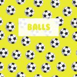 Seamless football pattern.rSoccer balls on a bright background Stock Photography