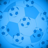 Seamless football pattern. Sport  2014, soccer wallpaper, blue background,seamless Stock Image
