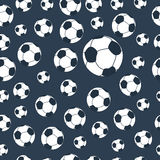 Seamless football pattern. Vector illustration Royalty Free Stock Image