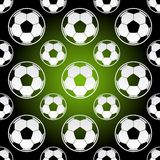 Seamless football soccer balls Royalty Free Stock Photos