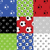 Football seamless patterns Stock Photo