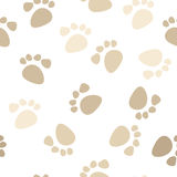 Seamless footprint pattern Stock Photos