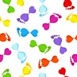 seamless footprints Stock Photo