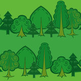 Seamless forest pattern Stock Image