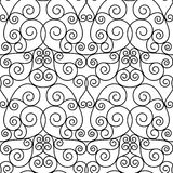 Seamless forged openwork metal abstract black Royalty Free Stock Image