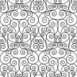 Seamless forged openwork metal abstract black Stock Photo