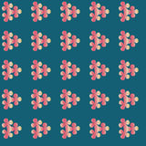 Seamless forget-me-not flowers pattern.  Floral Stock Image