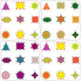 seamless former för färgrik utsmyckad modell Royaltyfri Bild