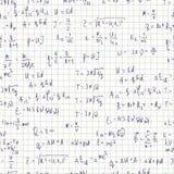 Seamless formula background Stock Photography