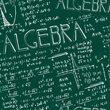 Seamless formula pattern Stock Images