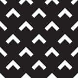 Seamless forward arrow pattern on black Stock Photography