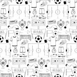 seamless fotbollmodell Arkivfoton
