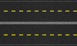 Seamless four lane road texture image Royalty Free Stock Photography