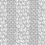 Seamless four-stitch front cable stitch. Royalty Free Stock Photography