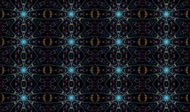 Seamless fractal patter Stock Photo