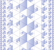 Seamless fractal pattern. Fractal pattern composed of equilateral triangles stock illustration