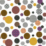 Seamless frame from patterned circles Royalty Free Stock Photography