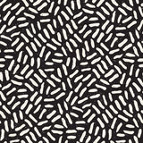 Seamless freehand pattern. Vector abstract rough lines background. Hand drawn strokes. Seamless freehand pattern. Vector abstract rough lines background. Hand Royalty Free Stock Image