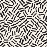 Seamless freehand pattern. Vector abstract rough lines background. Hand drawn strokes. Royalty Free Stock Photos