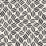 Seamless freehand pattern. Vector abstract rough lines background. Hand drawn strokes. Royalty Free Stock Image