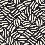 Seamless freehand pattern. Vector abstract rough lines background. Hand drawn strokes. Stock Image