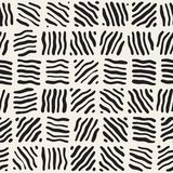 Seamless freehand pattern. Vector abstract rough lines background. Hand drawn strokes. Royalty Free Stock Photography