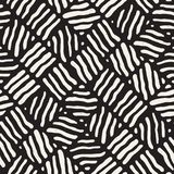 Seamless freehand pattern. Vector abstract rough lines background. Hand drawn strokes. Stock Photography