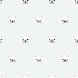 seamless french bulldog pattern Stock Image