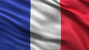Seamless French Flag Stock Images
