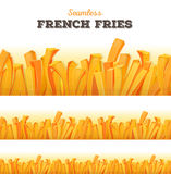 Seamless French Fries Background Royalty Free Stock Images