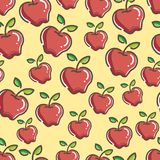 Seamless Fresh apple Pattern colorful. Seamless Fresh Apple Pattern, simple and colorful. gives a calming impression Royalty Free Stock Image