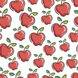 Seamless Fresh apple Pattern colorful. Seamless Fresh Apple Pattern, simple and colorful. gives a calming impression Stock Photography