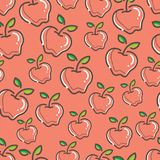 Seamless Fresh apple Pattern colorful. Seamless Fresh Apple Pattern, simple and colorful. gives a calming impression Royalty Free Stock Photo