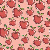 Seamless Fresh apple Pattern colorful. Seamless Fresh Apple Pattern, simple and colorful. gives a calming impression Stock Images