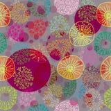 seamless färgrik blom- modell Arkivbild