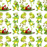 Seamless frog Royalty Free Stock Photos