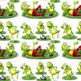 Seamless frog Stock Image